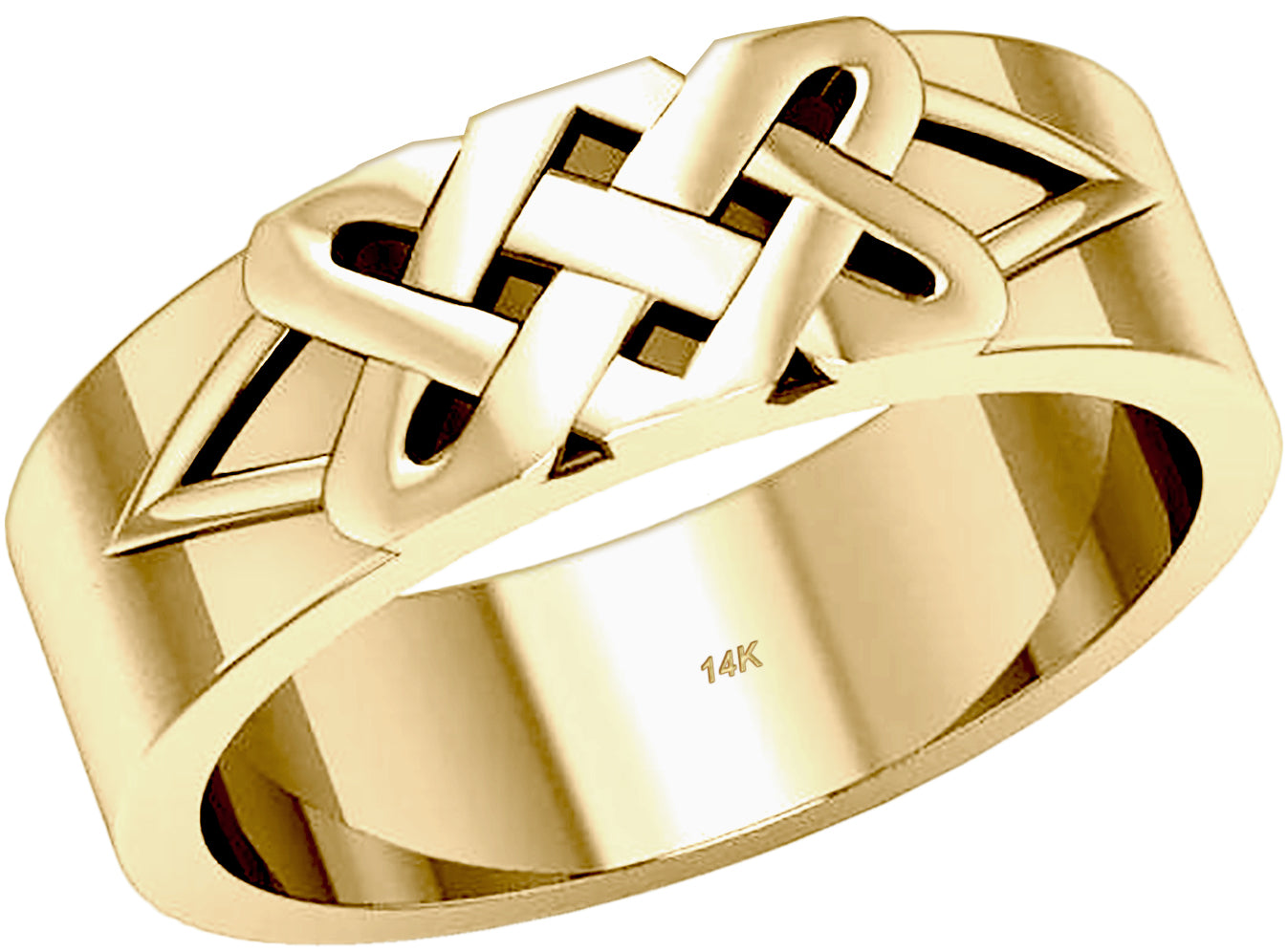 Celtic Love Knot Wedding Ring Band In Gold For Men