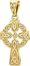 Celtic Cross Necklace With Knot Pendant - No Chain