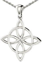 Celtic Necklace Of White Gold With Quaternary Knot