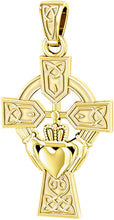 Claddagh Necklace With Cross Pendant In Gold - No Chain