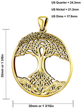 Tree Of Life Necklace With Polish Finish - Size Details