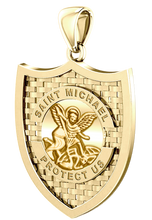 Saint Michael Pendant In Yellow Gold - Pendant Only