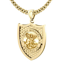 Saint Michael Pendant In 10K 14K Gold - 3mm Cabel Chain