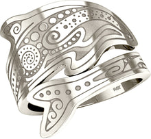 Tattoo Ring In Yellow Or White Gold - Exterior