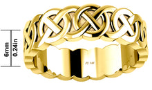 6mm x 6mm Ladies Gold Celtic Love Knot Wedding Ring