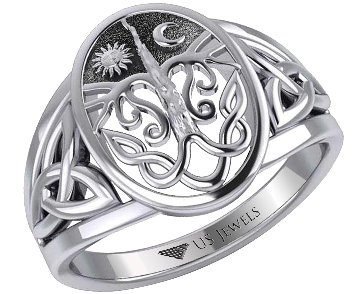 Irish Ring In Yellow Or White Gold - Top View