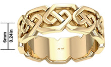 6mm Men's Gold Celtic Love Knot Wedding Ring