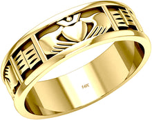 Gold Irish Claddagh Wedding Ring Band - US Jewels