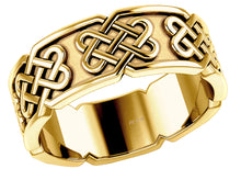 Ladies Love Knot Ring Embossed Celtic Knot panels loop