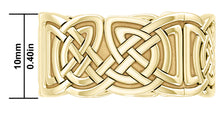 10mm 10K or 14K Gold Irish Celtic Love Knot Wedding Ring