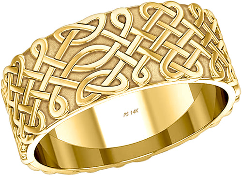 Irish Celtic Love Knot Wedding Band in Gold - US Jewels