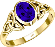 December Birthstone Ring Chatham Tanzanite Trinity