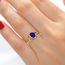Ladies Gold Trinity Chatham Tanzanite Dec Birthstone Ring