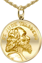 Gold Pendant Necklace - St Jude Thaddeus Necklace