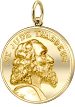 Gold Pendant Necklace With St Jude Thaddeus - No Chain