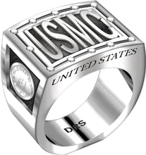 US Marine Corps Ring - USMC 0.925 Sterling Silver Ring Band