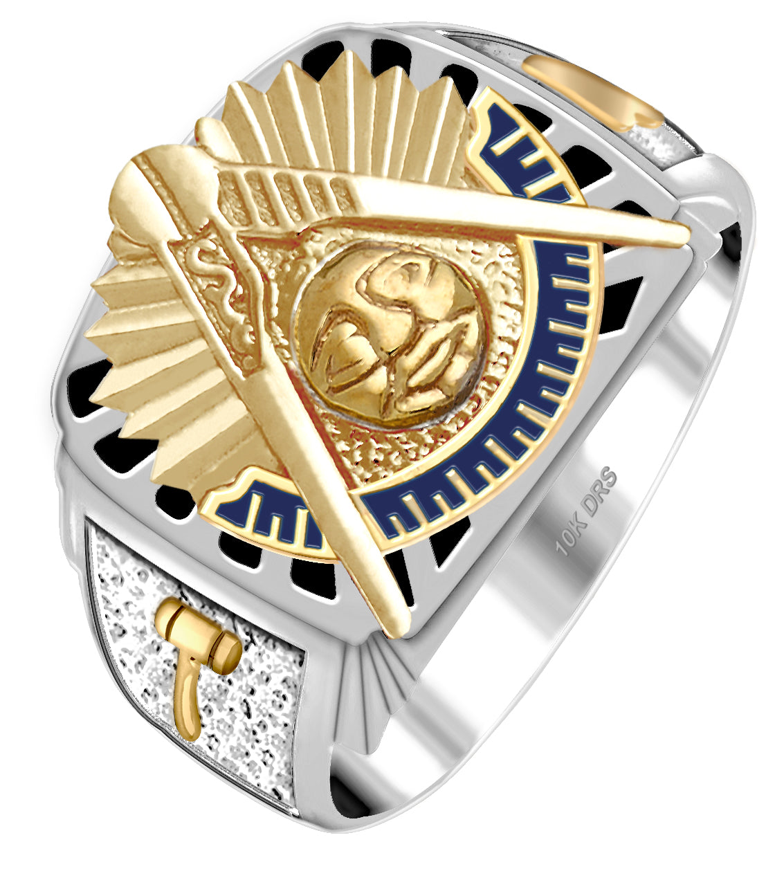 Masonic Ring With 14k or 10k Purity - White
