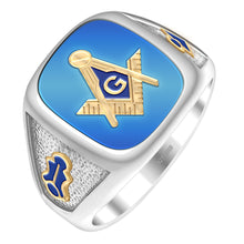 Masonic Ring Gold With 0.925 Purity - Blue