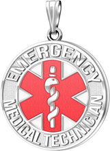 Medical Alert Necklace For Paramedic/EMT In Red - No Chain