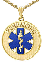 Medical Alert Necklace - Paramedic Pendant In 14K Gold