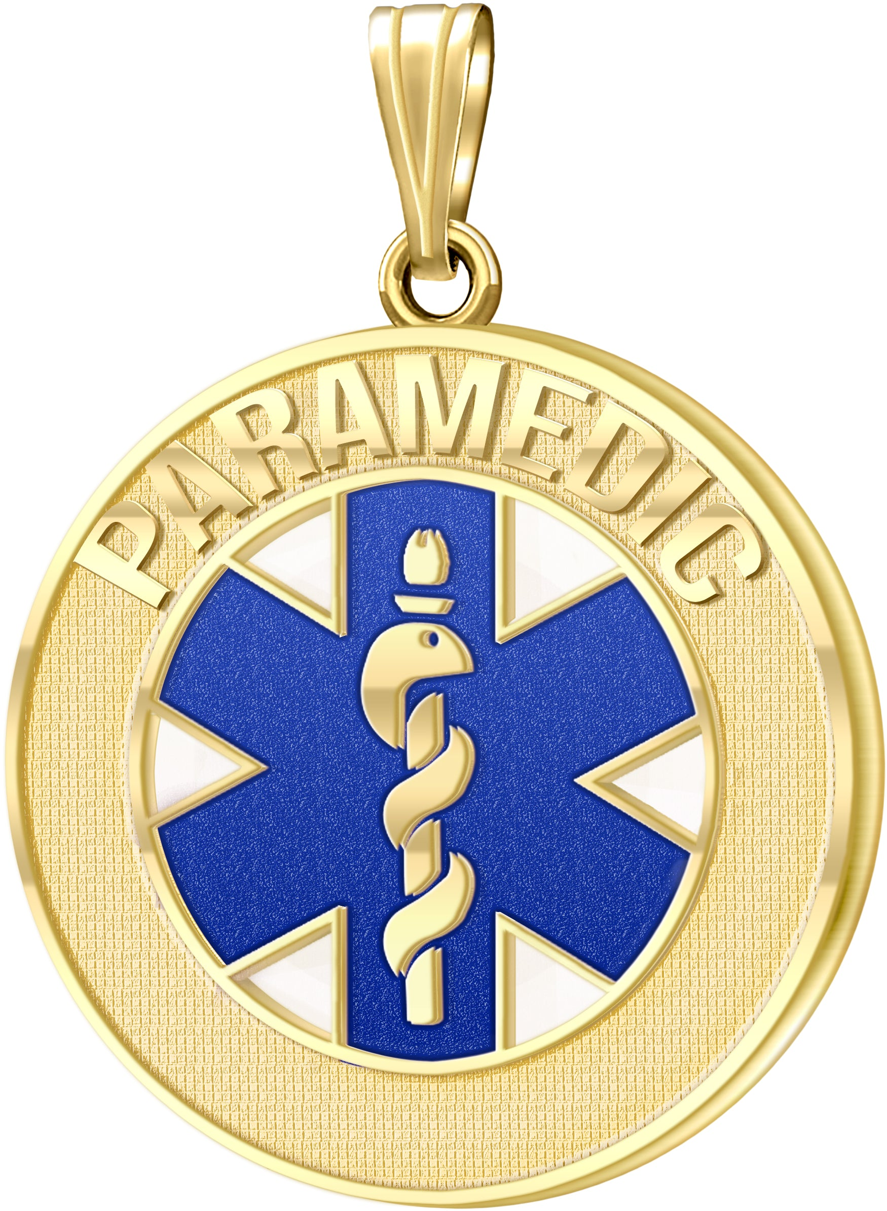 Medical Alert Necklace For Paramedics In Blue - No Chain
