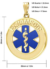 Medical Alert Necklace With Paramedic Pendant - Size Details