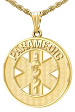 Medical Alert Necklace For Paramedics In Gold - Full View