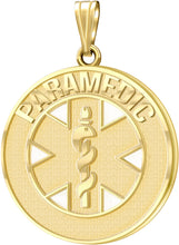Medical Alert Necklace For Paramedics In Gold - No Chain