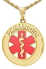 Medical Alert Necklace For Paramedics In Red - Full View