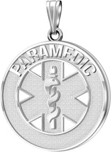 Medical Alert Necklace For Paramedic In Silver - No Chain