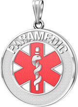 Medical Alert Necklace For Paramedic In Red - No Chain