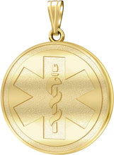 Medical Alert Necklace With Engravable Pendant - No Chain