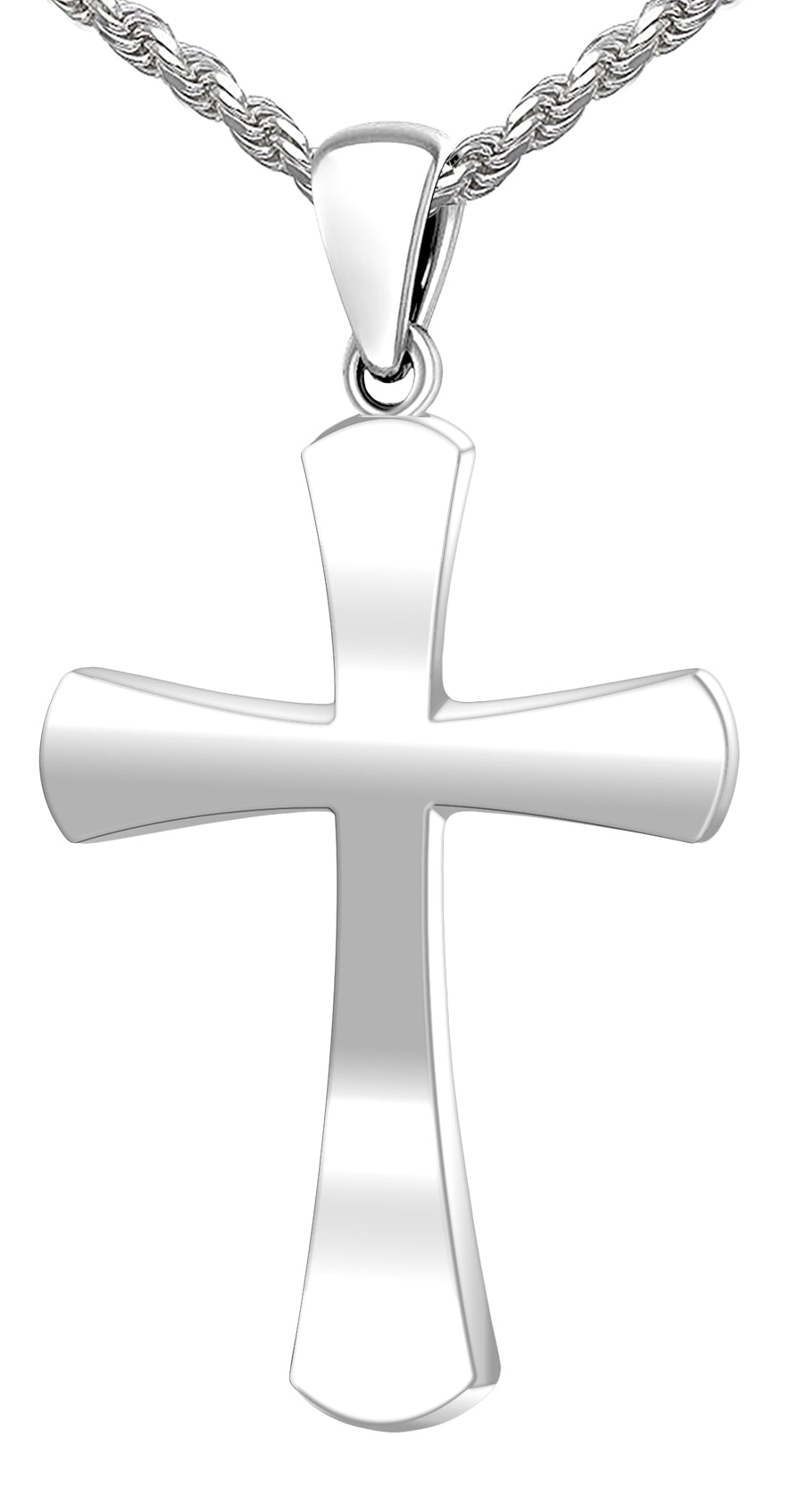Christian Cross Necklace - Pendant Necklace In 2 Sizes