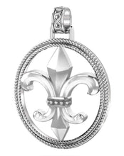 Fleur De Lis Necklace In Braided Design - Pendant Only
