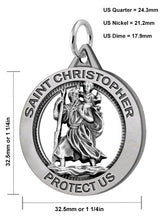 St Christopher Necklace In Round Shape - Details