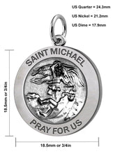 Saint Michael Pendant In 2 Sizes - Size Details