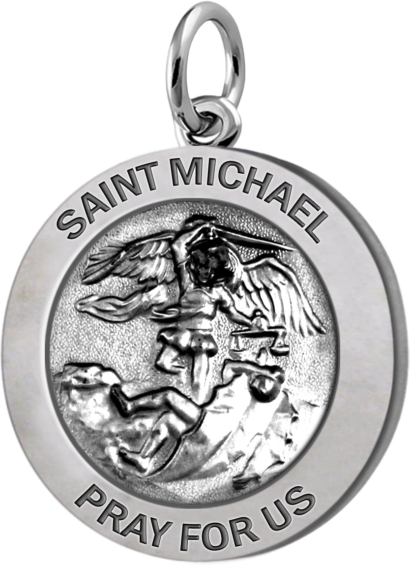 Saint Michael Pendant In 2 Sizes - No Chain