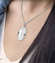 Virgin Mary Necklace Of 0.925 Silver - Worn On Neck