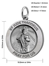 Pendant Necklace With St Jude Thaddeus Necklace - Size