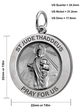 Pendant Necklace With St Jude Thaddeus Necklace - Details