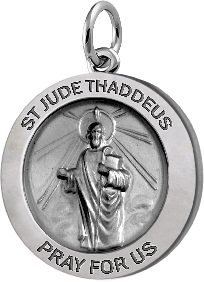 Pendant Necklace With St Jude Thaddeus Necklace - No Chain