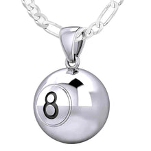 Ball Necklace In 925 Sterling Silver - 1.8mm Figaro Chain