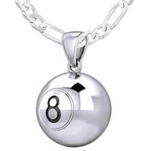 Ball Necklace In 925 Sterling Silver - 2.3mm Figaro Chain