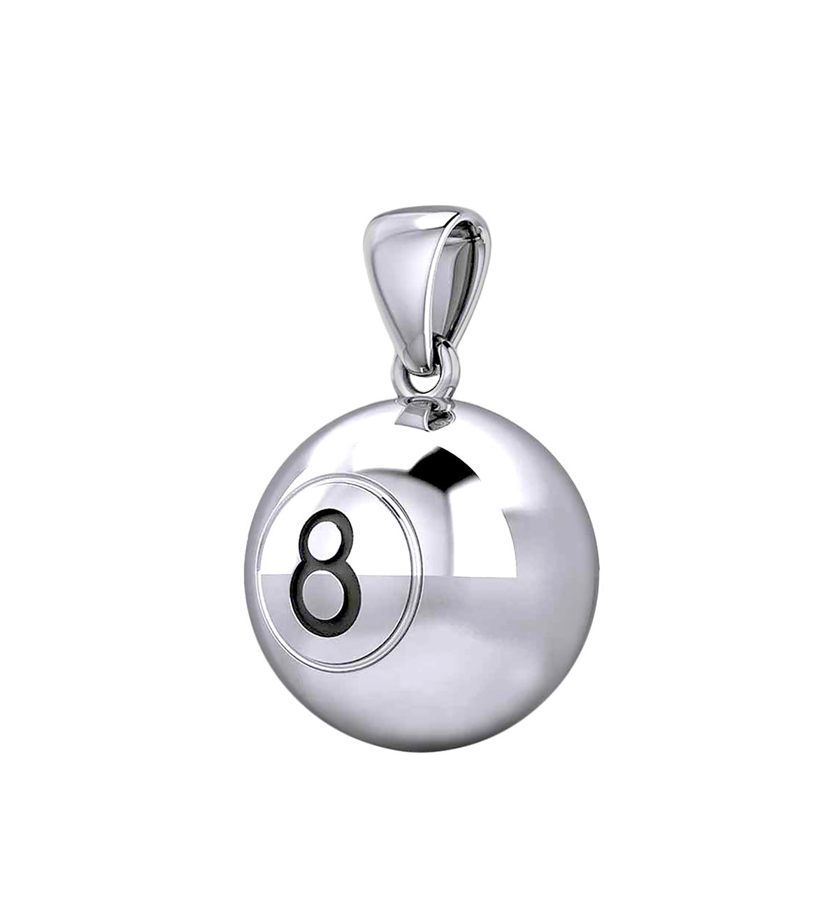 Ball Necklace In 925 Sterling Silver - Pendant Only