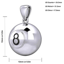 Ball Necklace In 925 Sterling Silver - Sizing Details