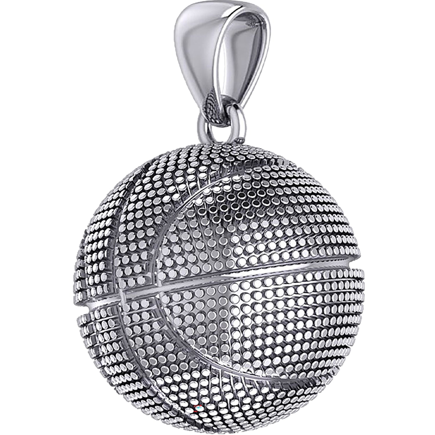 Basketball Necklace In Silver For Men - Pendant Only