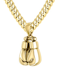 Double Boxing Glove Pendant Necklace