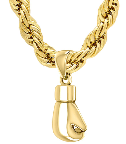 Boxing Glove Necklace - Gold Single Boxing Glove Pendant