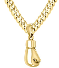 Gold Single Boxing Glove Pendant Necklace