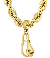 14K Yellow Gold Single Boxing Glove Pendant Necklace